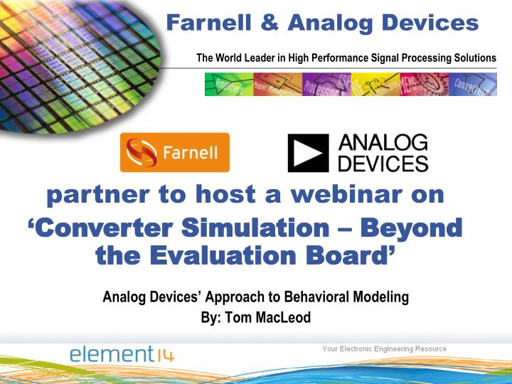 analog devices approach to behavioral modeling by tom macleod n.