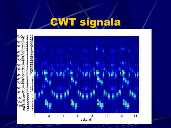 CWT signala