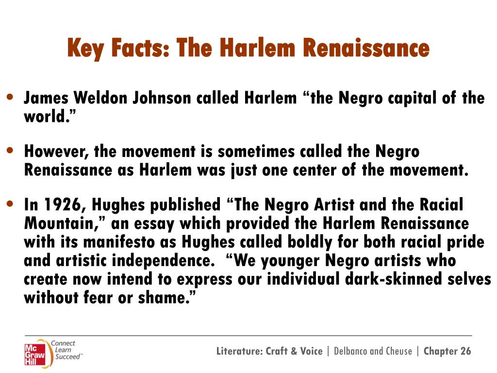 PPT - Langston Hughes and The Harlem Renaissance Image ...