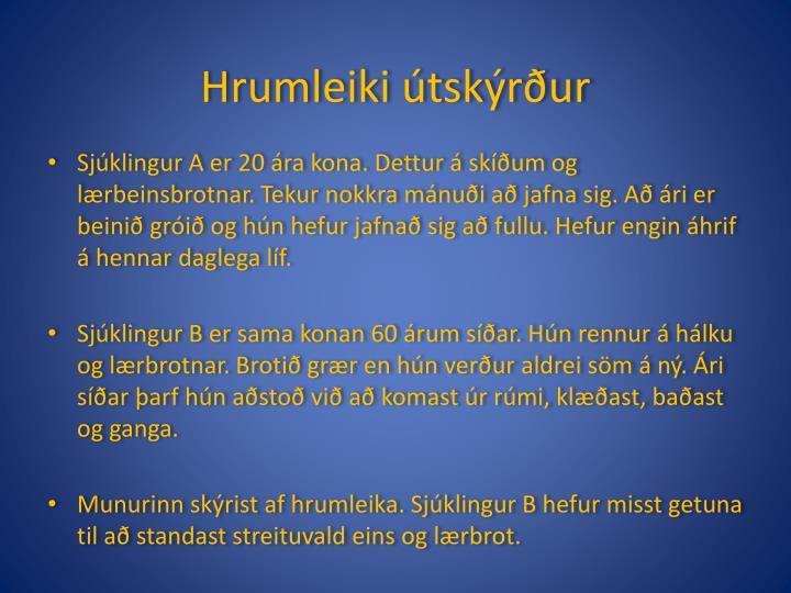 Hrumleiki útskýrður