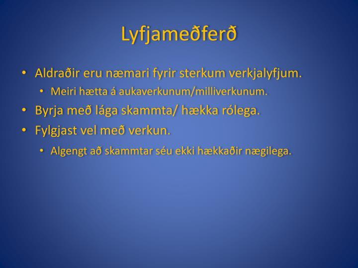 Lyfjameðferð