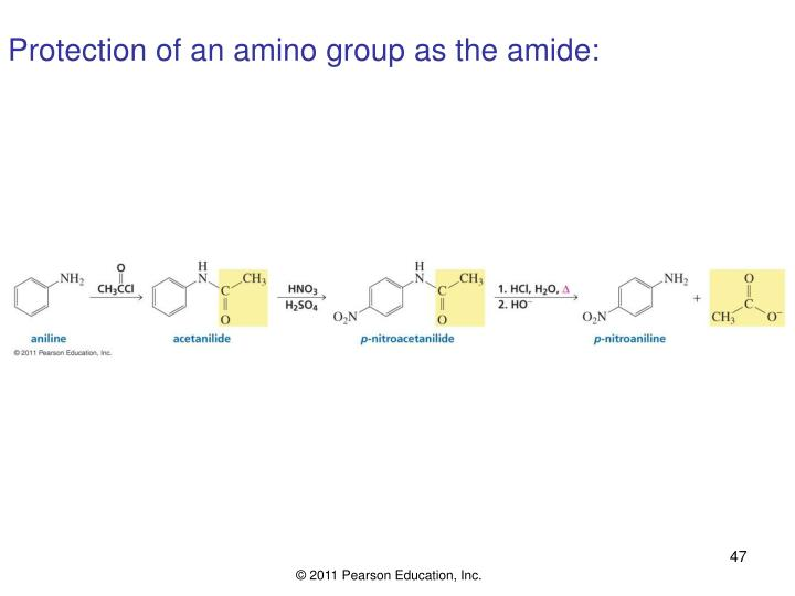 Protection of an amino group as the amide: