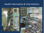 health information vital statistics