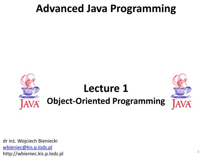 lecture 1 object oriented programming n.