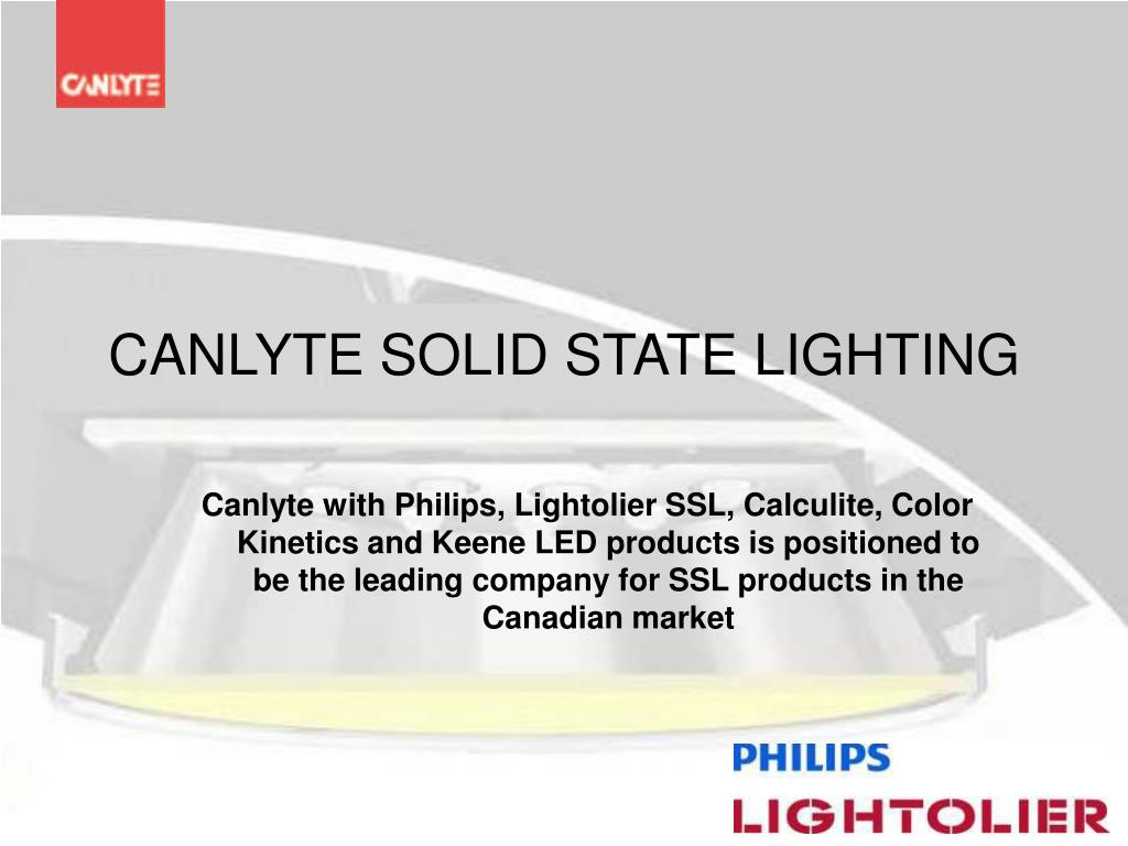 Ppt Canlyte Solid State Lighting Point Presentation