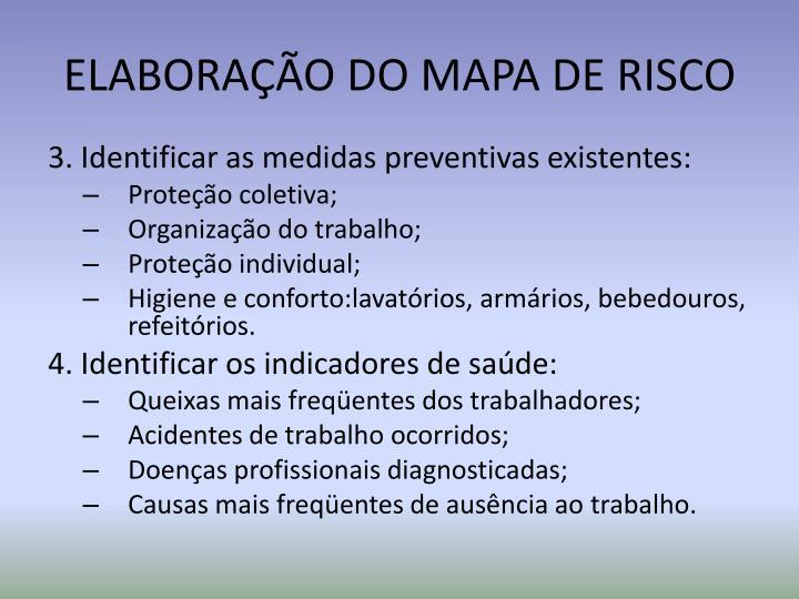 ELABORAÇÃO DO MAPA DE RISCO