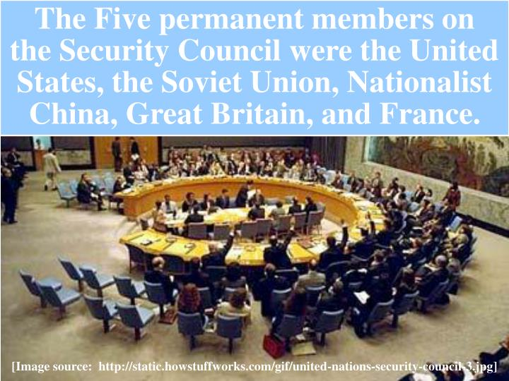 The Five permanent members on