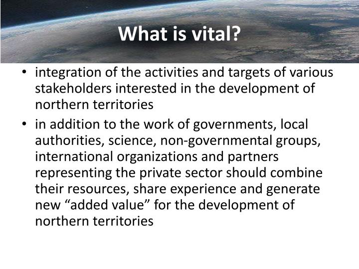 What is vital?