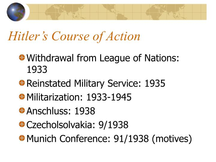 Hitler's Course of Action