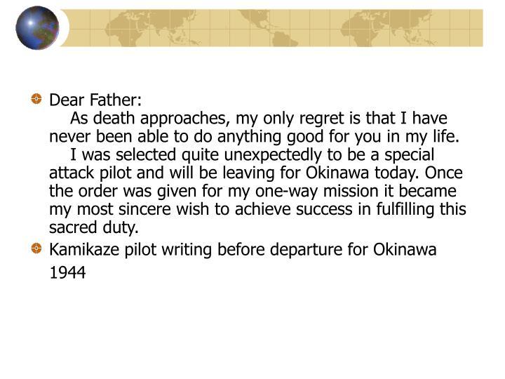 Dear Father: