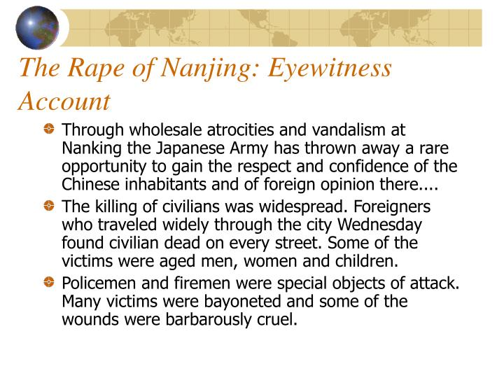 The Rape of Nanjing: Eyewitness Account