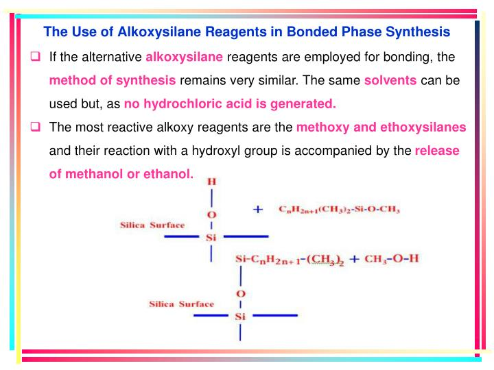 The Use of Alkoxysilane Reagents in Bonded Phase Synthesis