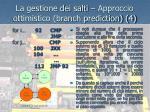 la gestione dei salti approccio ottimistico branch prediction 4