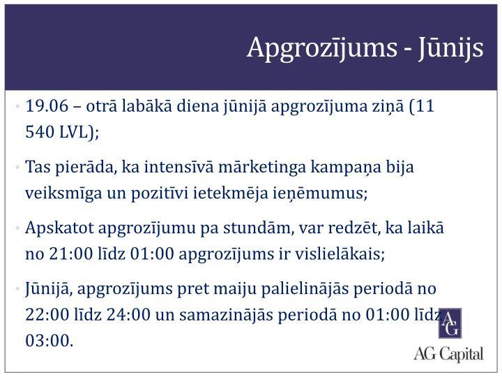 Apgrozījums - Jūnijs