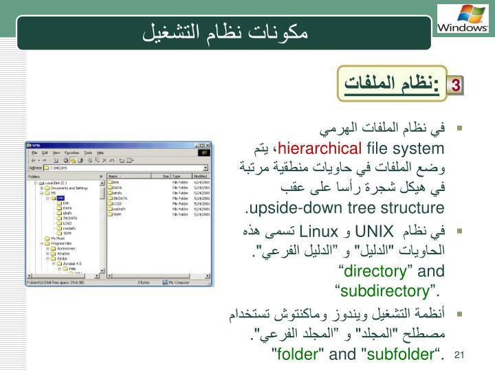 مكونات نظام التشغيل