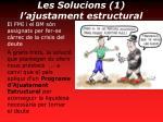 les solucions 1 l ajustament estructural