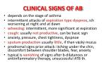 clinical signs of ab