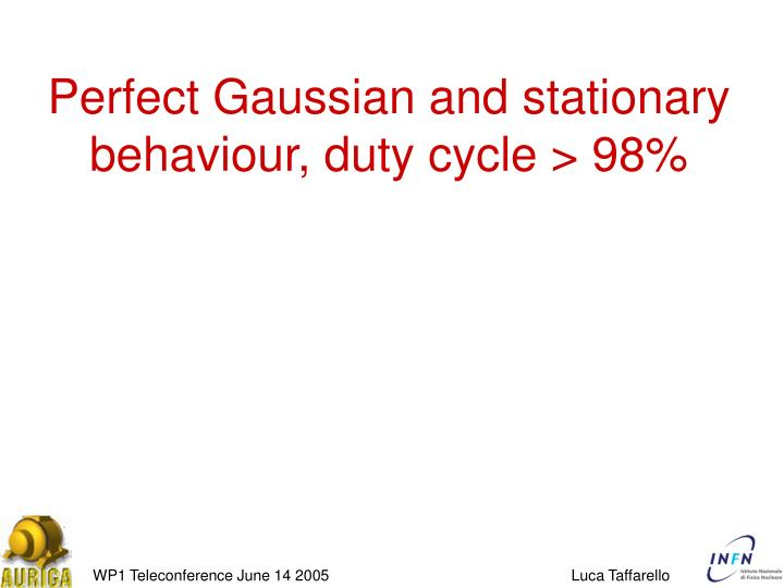 Perfect Gaussian and stationary