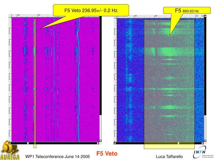 F5 Veto 236.95+/- 0.2 Hz