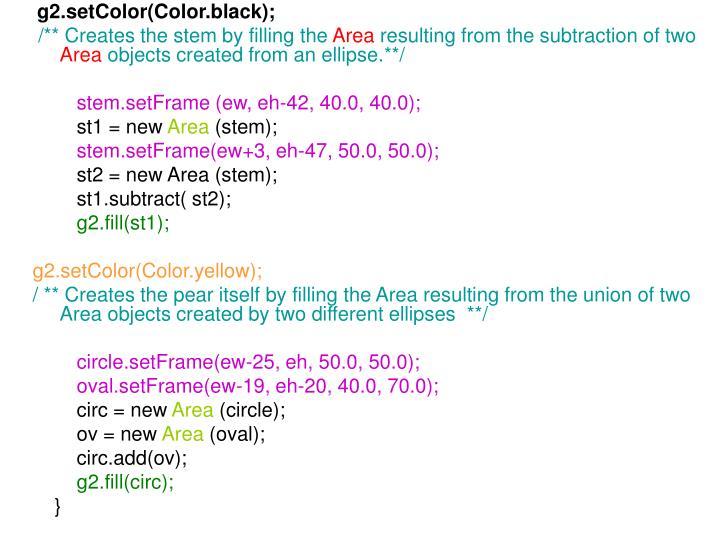 g2.setColor(Color.black);