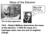 mass of the electron