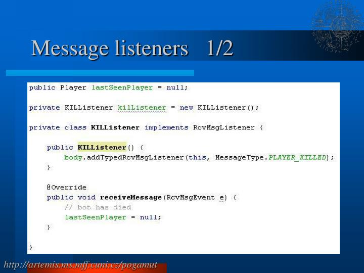 Message listeners   1/2