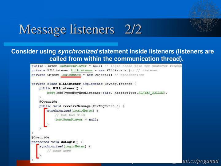 Message listeners   2/2