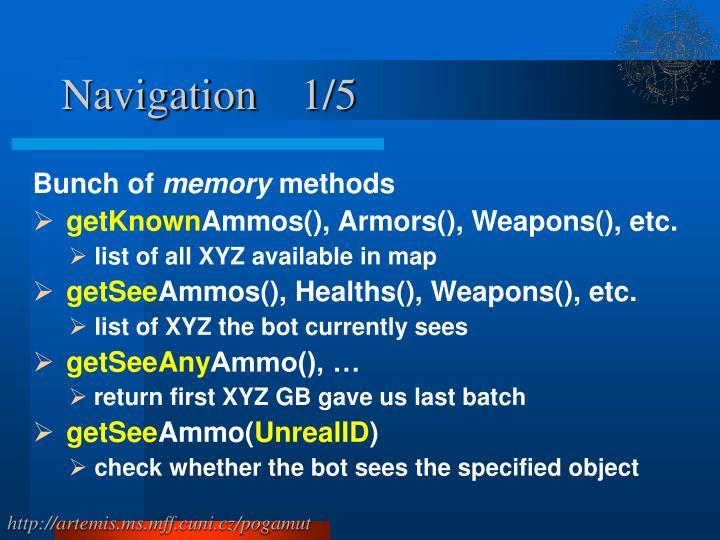 Navigation    1/5