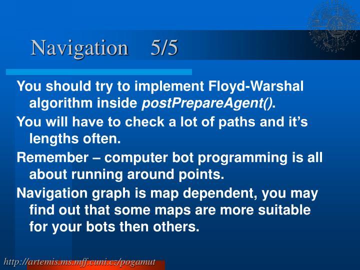 Navigation    5/5