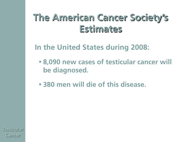 Ppt testicular cancer powerpoint presentation id6069524 the american cancer societys estimates toneelgroepblik Images