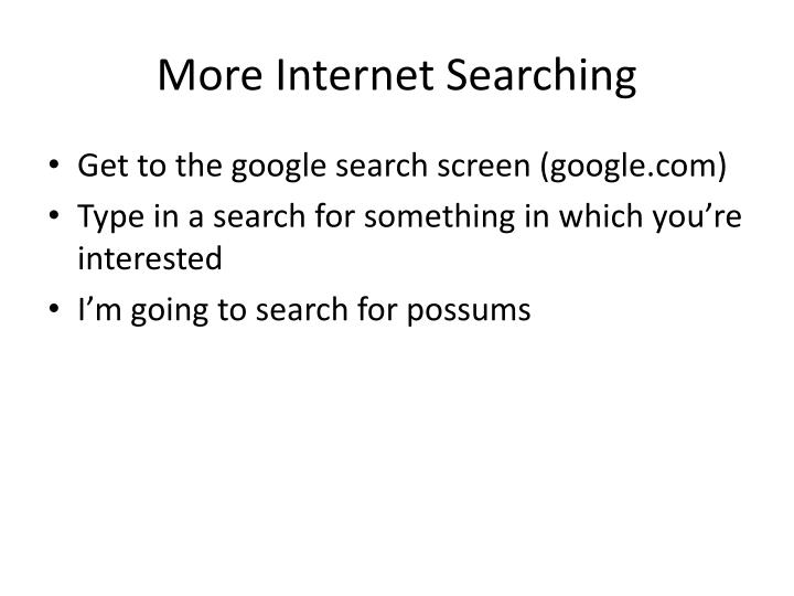 More Internet Searching