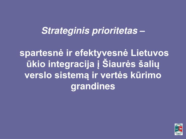 Strateginis prioritetas