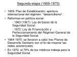 segunda etapa 1959 1975