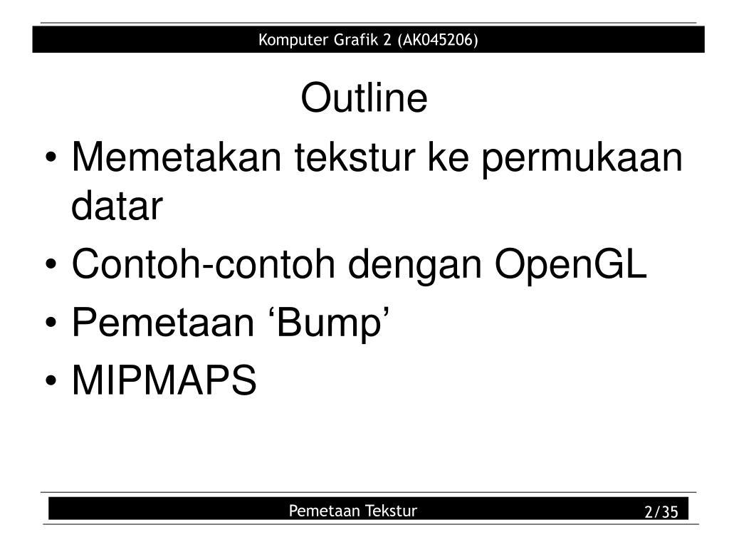 PPT - Pemetaan Tekstur PowerPoint Presentation - ID:6069971