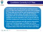 candidates currently in 2 nd pass
