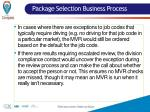 package selection business process1