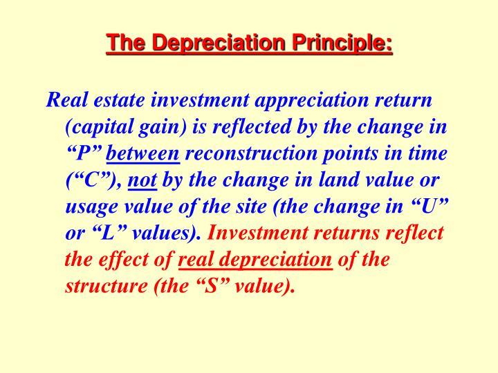 The Depreciation Principle:
