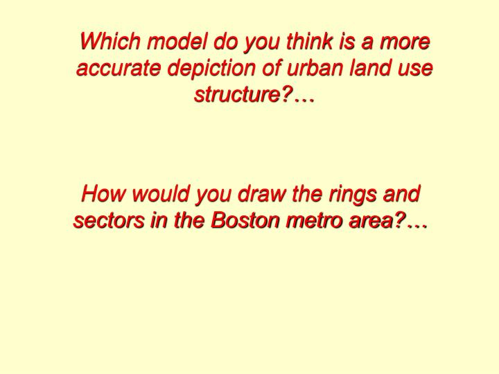 Which model do you think is a more accurate depiction of urban land use structure?…