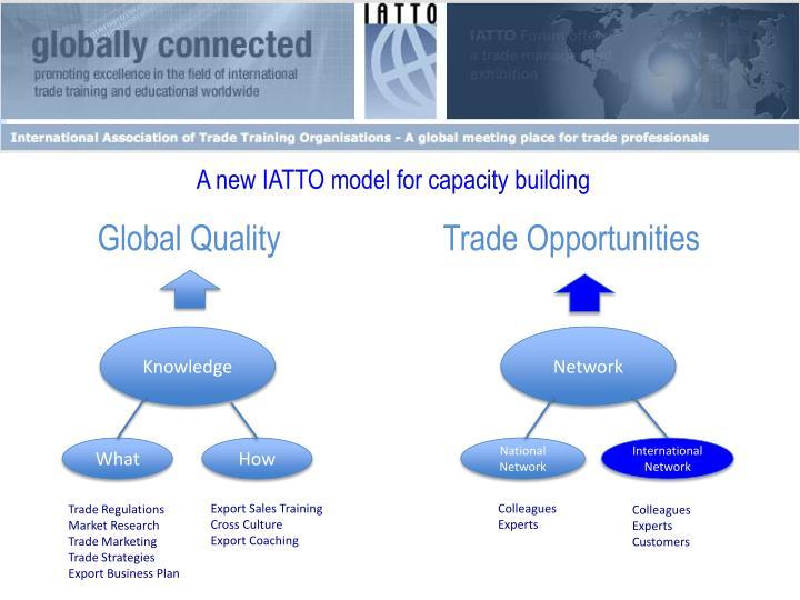 A new IATTO model for capacity building