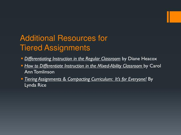 Additional Resources for