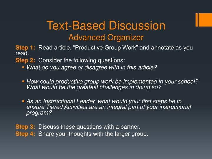 Text-Based Discussion
