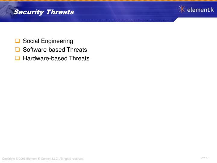 PPT - Security Threats PowerPoint Presentation - ID:6070650