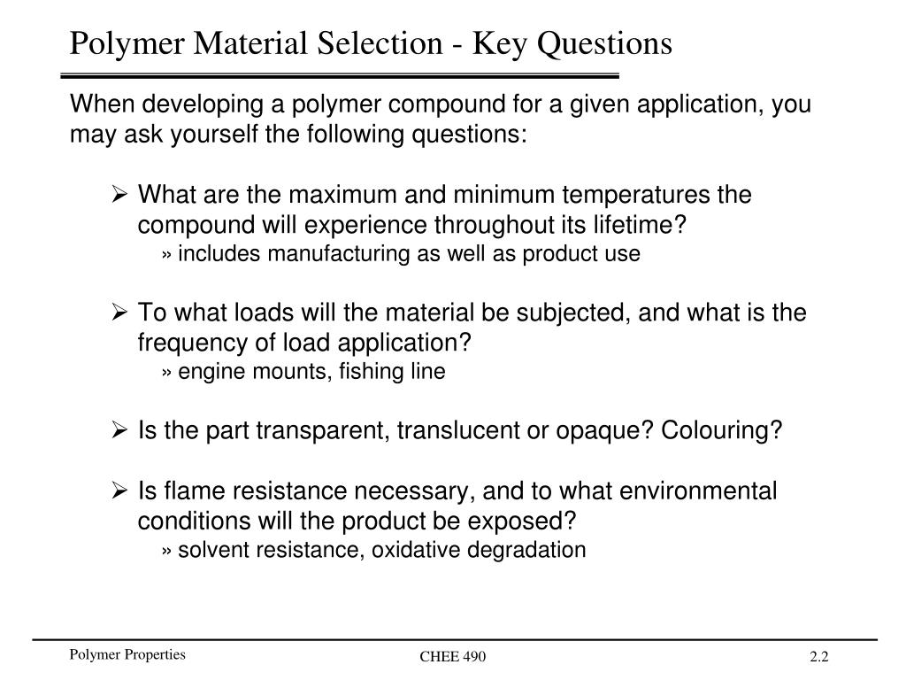 PPT - Physical Properties of Polymer Compounds PowerPoint ...