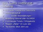 bank austria creditanstalt ticketing