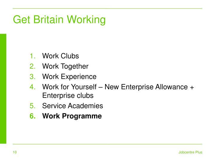 Get Britain Working