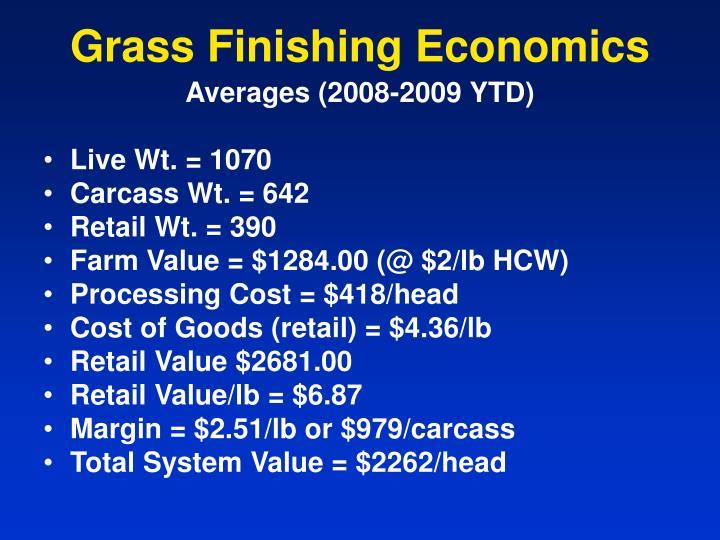 Grass Finishing Economics