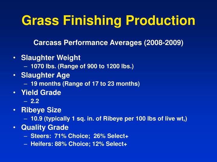 Grass Finishing Production