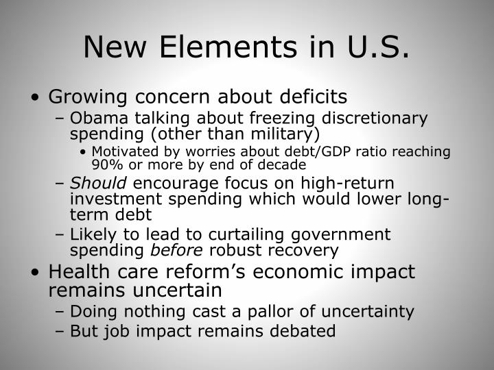 New Elements in U.S.