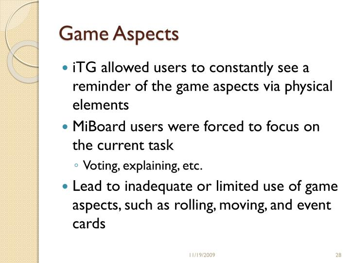 Game Aspects