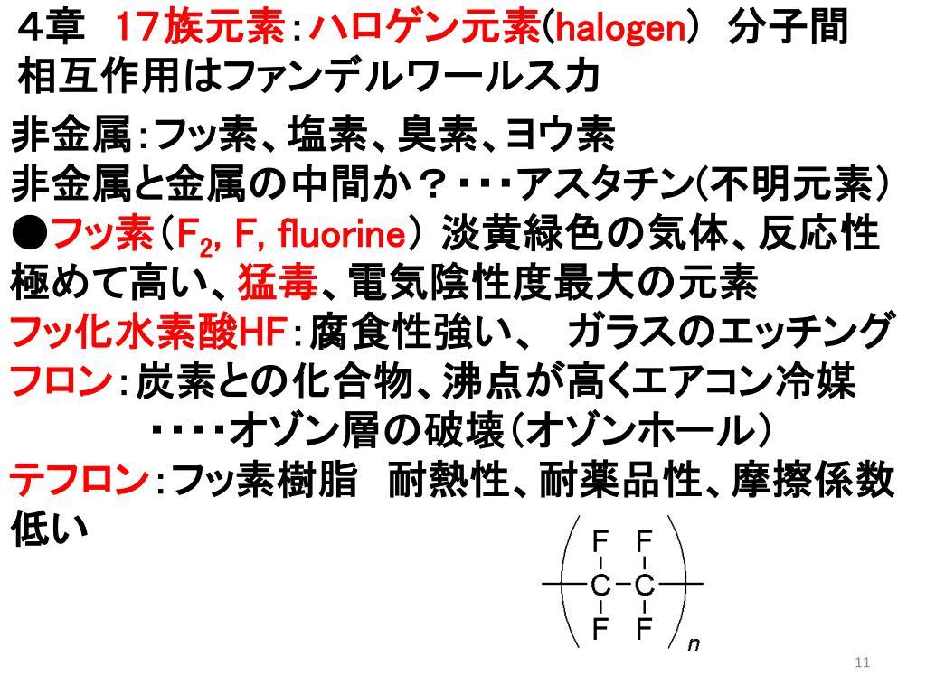 ハロゲン 元素